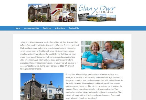 Glan y Dwr Website